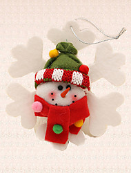 1pc Snowman Snowflake Pendant Christmas Tree Decoration Festival Party Home Supplies