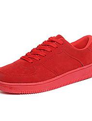 Da uomo-Sneakers-CasualPiatto-Scamosciato-Nero Blu Rosso