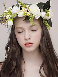 MISS DIVA  Women's Tulle Headpiece Headbands 1 Piece Blue / White Flower 61