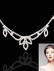 Women's Rhinestone Alloy Headpiece-Wedding Special Occasion Head Chain 1 Piece