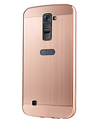 For LG Series Case Luxury Gold Plating Armor Aluminum Metal Frame + Mirror Acrylic Case Back Cover Hot