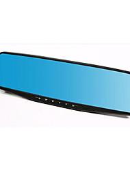 rétroviseur lecteur enregistreur double lentille 1080p HD bleu miroir grand angle d'enregistrement du cycle de vision nocturne de 4,3