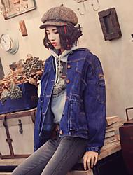 Aporia.As® Women's Shirt Collar Long Sleeve Shirt & Blouse Blue-MZ07026