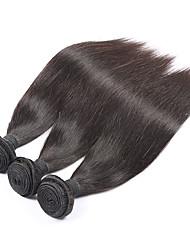 3pieces Brazilian Virgin Hair Straight Silky Brazilian Hair Weave Bundles 6A Human Braiding Hair Beauty Forever