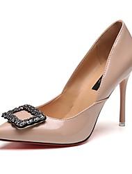 Mujer-Tacón Stiletto-Tacones-Tacones-Casual-PU-Negro / Almendra