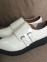 Damen-Stiefel-Lässig-PU-KeilabsatzSchwarz Weiß