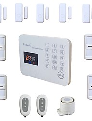 Wireless Wired GSM Alarm Systems Security Home Voice LCD Touch House Burglar Alarma System Kit Android IOS App Remote