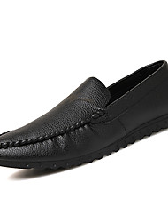 Fashion Style Men's Ultra Light Leather Flats Man's Breathable Driving Shoes for Party/Trip