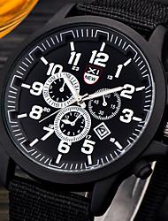 Casual Mens Watches Fashion Nylon Band Date Quartz Wristwatch Cheap Relogio Masculino