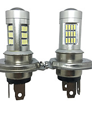 2PCS Germany Car Models H4 20W 4014 42SMD PMMA Lens Silver Housing H4 LED Headlight H4 Low Beam LED Headlight