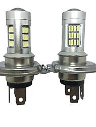 2pcs modèles de voiture allemagne H4 20w 4014 42smd pmma lentille argent logement h4 conduit h4 des phares de croisement conduit phare