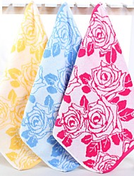 "1 PC Full Cotton Thickening Wash Towel 13"" by 13"" Super Soft Floral Pattern"