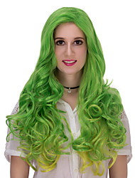 The green long hair wig.WIG LOLITA, Halloween Wig, color wig, fashion wig, natural wig, COSPLAY wig.