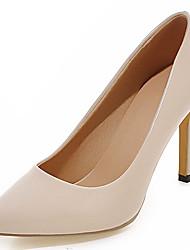Damen-High Heels-Büro Kleid Lässig-Lackleder Kunstleder-Stöckelabsatz-Pumps-Schwarz Braun Lila Rot Beige Pfirsich