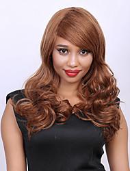 desgrenhado sem tampa cabelos onda impressionante longa cento cabelo humano peruca das mulheres