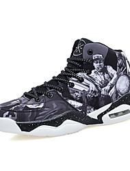 Men's Sneakers Denim Outdoor Flat Heel Lace-up Gray / Burgundy Basketball EU39-43