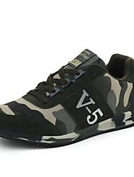 Herren-Sneaker-Outddor / Lässig / Sportlich-Leder / Wildleder / Tüll-Flacher Absatz-Komfort-Grün
