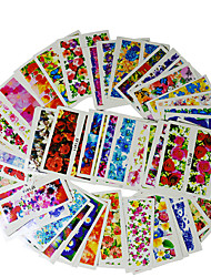 50 Sheets Nail Art Water Decals Transfer Sticker Charming Fantastic Flower Pattern Manicure Decor Tools