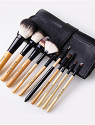 Beauty Artisan  10 Makeup Brushes Set Goat Hair / Pony / Synthetic Hair Portable Wood Face Others