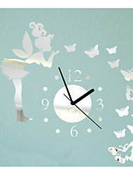 3D Clock Wall Stickers DIY Wall Stickers Mirror Wall Stickers Leaves Clock Wall Stickers Acrylic Clock Decals Home Decor