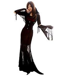 Costumes Zombie / Vampire / Ange et Diable Halloween / Noël / Carnaval / Nouvel an Noir Vintage Térylène Robe / Châle