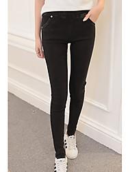 Pantaloni Da donna Skinny Semplice Cotone Anelastico