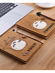Guardian Totoro Notebook Blotter Journal Of The Hand-Painted Wooden Pen Chinchilla Oil Painted Book Cover Students