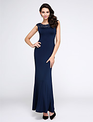 TS Couture Prom Formal Evening Dress - Sexy Trumpet / Mermaid Scoop Ankle-length Jersey with Crystal Detailing Lace