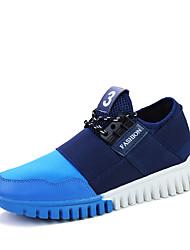 Men's Sneakers Spring / Fall Comfort Tulle Casual Flat Heel Slip-on Black / Blue / Red Walking
