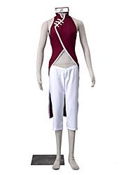 Inspired by Naruto Sakura Kasugano Anime Cosplay Costumes Cosplay Suits Solid White / Red Sleeveless Cheongsam / Pants