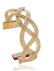 Bracelet Manchettes Bracelets Alliage Forme de Tube Mode Bijoux Cadeau Doré / Argent,1pc