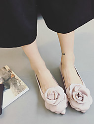 Черный / Розовый-Женский-На каждый день-Шёлк-На плоской подошве-На плокой подошве-На плокой подошве