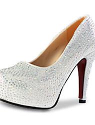Femme Chaussures à Talons Polyuréthane Automne Décontracté Talon Aiguille Argent Rouge 10 à 12 cm