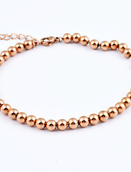 Fashion 14k Gold Plated 316L Stainless Steel Strand Bracelets