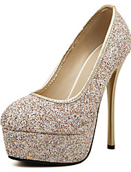 Women's Shoes Sparkling Glitter High Heels with Round Toe Platform Stiletto Heels More Colors Available
