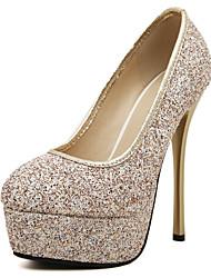Mujer-Tacón Stiletto Plataforma-Plataforma Zapatos del club Light Up Zapatos-Tacones-Oficina y Trabajo Vestido Informal Fiesta y Noche-PU-