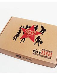 коричневый цвет упаковки&отправка молодежи E версия упаковочные коробки пакет из девяти
