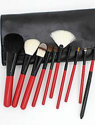 10Pcs Wool Makeup Brush Set