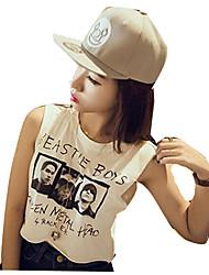 Tenue Punk Cosplay Vêtements de Lolita Blanc / Noir / Gris Imprimé Manches courtes Pour Féminin Coton