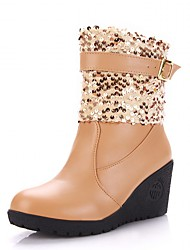 Feminino-Botas-Saltos / Plataforma / Coturno / Inovador / Botas de Cowboy / Botas de Neve / Botas Cano Curto / Bico Fino / Botas Montaria