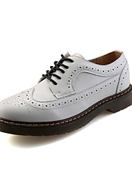 Men's Oxfords Fall Leather Casual Low Heel Others Black Red White Walking