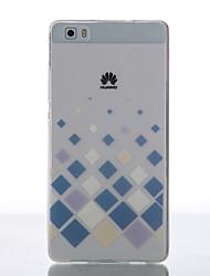 Pour Coque Huawei P8 P8 Lite Ultrafine Autre Coque Coque Arrière Coque Forme Géométrique Flexible PUT pour Huawei Huawei P8 Huawei P8 Lite
