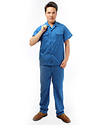 Washed Cotton Summer Short-Sleeved Overalls Suit Protective Clothing Tooling Uniforms JD038