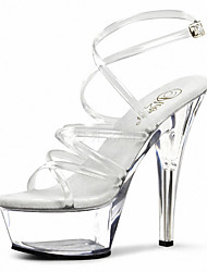 A nightclub stage catwalk shows Women's Heels Heels/Sandals PVC Wedding/Party & Evening/Dress Stiletto Heel Buckle