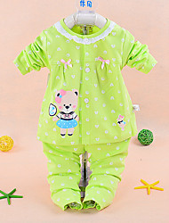 Girls' Casual/Daily Animal Print Sets,Cotton Winter Spring Fall Long Sleeve Clothing Set