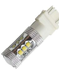 80w de puissance élevée 3157/3156 super blanc arrêt de frein arrière à LED projecteur lumières ampoule