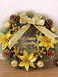 New Korean Colored Pine Needle 40cm Christmas Wreath For Decoration