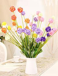 1 1 Une succursale Polyester / Plastique Hortensias Fleur de Table Fleurs artificielles 19.6*1.57inch/50*4cm
