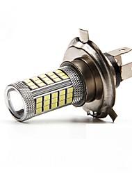 2pcs h4 / h11 63smd 2835 lumière lampe ampoule projecteur / léger brouillard blanc, rouge, bleu DC12V glary