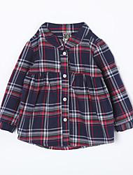 малыш Рубашка-На каждый день,Гусиная лапка,Хлопок,Осень-Синий